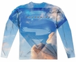 Supergirl Long Sleeve Up In The Sky Sublimation Shirt Front/Back Print
