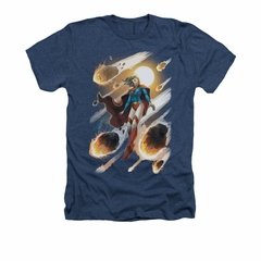 Supergirl Shirt #1 Adult Heather Navy Blue Tee T-Shirt