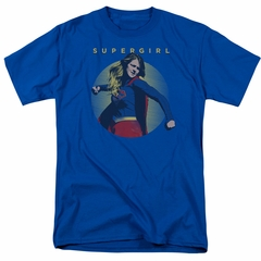 Supergirl Shirt Classic Hero Royal Blue T-Shirt