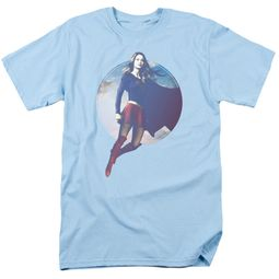 Supergirl Shirt Cloudy Circle Light Blue T-Shirt