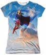 Supergirl Shirt In The Sky Sublimation Juniors Shirt Front/Back Print