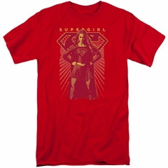 Supergirl Shirt Ready Set Red Tall T-Shirt