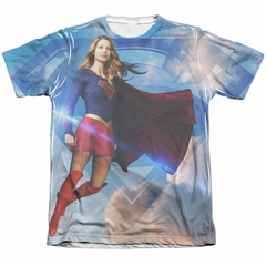 Supergirl Shirt Up In The Sky Poly/Cotton Sublimation Shirt