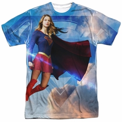 Supergirl Shirt Up In The Sky Sublimation Shirt
