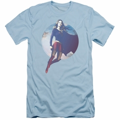 Supergirl Slim Fit Shirt Cloudy Circle Light Blue T-Shirt