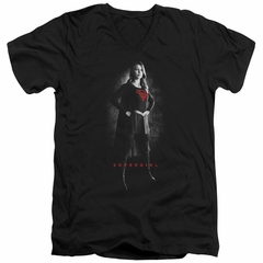 Supergirl Slim Fit V-Neck Shirt Noir Black T-Shirt