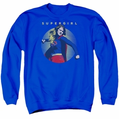 Supergirl Sweatshirt Classic Hero Adult Royal Blue Sweat Shirt
