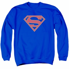Supergirl Sweatshirt Logo Adult Royal Blue Sweat Shirt