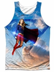 Supergirl Tank Top Up In The Sky Sublimation Tanktop Front/Back Print