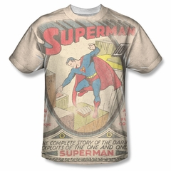 Superman #1 Distressed Sublimation Shirt
