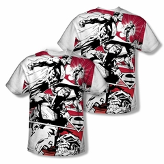 Superman Angry Red Sublimation Shirt Front/Back Print