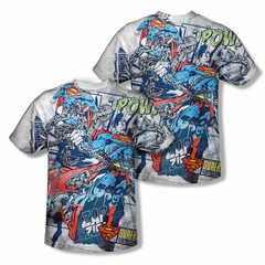 Superman Break Free Sublimation Shirt Front/Back Print
