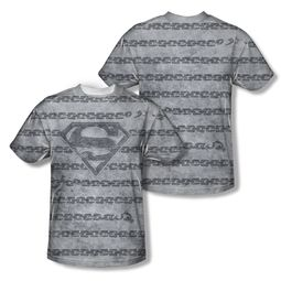 Superman Breaking Chains All Over Sublimation Shirt Front/Back Print