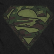 Superman Camo Logo Distressed Shirts