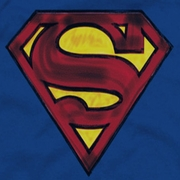 Superman Charcoal Shield Shirts