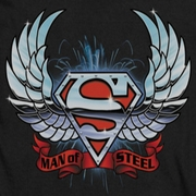 Superman Chrome Wings Shirts