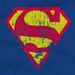 Superman Classic Logo Distressed Shirts