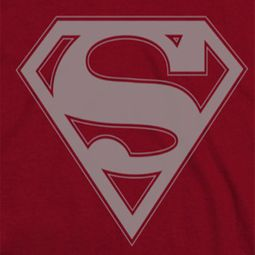 Superman Crimson & Gray Shirts