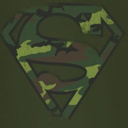 Superman Distressed Camo Shield Shirts
