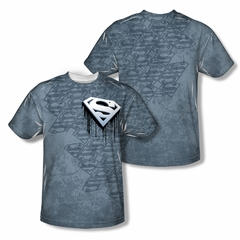 Superman Drip And Repeat Sublimation Shirt Front/Back Print