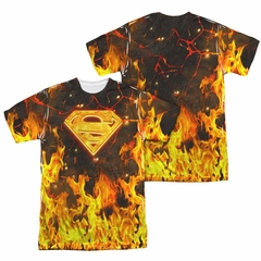 Superman Fire Logo Sublimation Shirt Front/Back Print