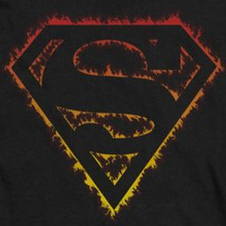 Superman Flame Outlined Shirts