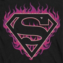 Superman Fuchia Flames Shirts