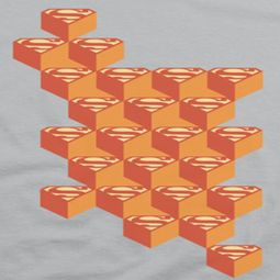 Superman Geo Block Shields Shirts