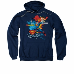 Superman Hoodie Abilities Navy Sweatshirt Hoody
