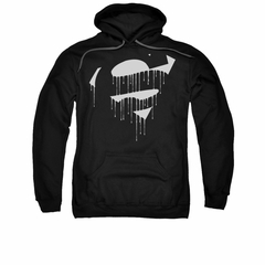 Superman Hoodie Dripping Shield Black Sweatshirt Hoody