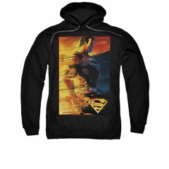 Superman Hoodie Fireproof Black Sweatshirt Hoody
