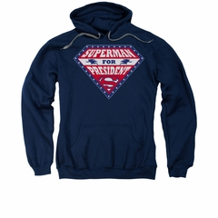Superman Hoodie For President Navy Sweatshirt Hoody
