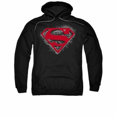 Superman Hoodie Hardcore Noir Black Sweatshirt Hoody