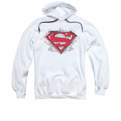 Superman Hoodie Hastily Drawn White Sweatshirt Hoody