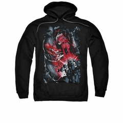 Superman Hoodie Heat Vision Black Sweatshirt Hoody
