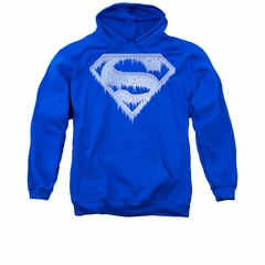 Superman Hoodie Ice Shield Royal Sweatshirt Hoody