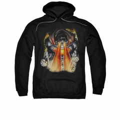 Superman Hoodie Laser Eyes Black Sweatshirt Hoody