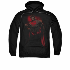 Superman Hoodie Red Son Black Sweatshirt Hoody