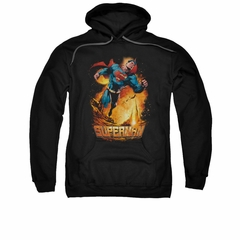 Superman Hoodie Space Case Black Sweatshirt Hoody