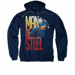 Superman Hoodie Steel Flight Navy Sweatshirt Hoody