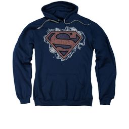 Superman Hoodie Storm Clouds Navy Sweatshirt Hoody