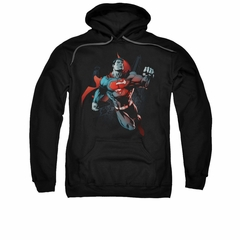 Superman Hoodie Up In The Sky Black Sweatshirt Hoody