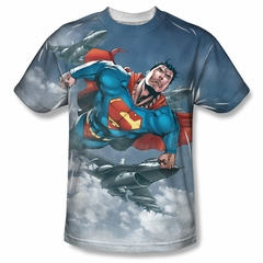 Superman In The Sky Sublimation Shirt