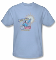 Superman Kids Shirt Clark Kent Ingenious Disguise Youth Light Blue Tee