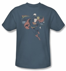 Superman Kids Shirt DC Comics This Is A Job For Superman Slate Blue