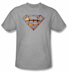 Superman Kids T-shirt Basketball Shield Heather Gray Tee Youth