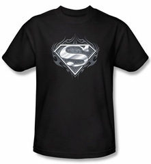 Superman Kids T-shirt  Biker Metal Youth Black Superhero Tee Youth