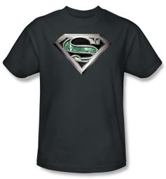 Superman Kids T-shirt Circuitry Logo Charcoal Gray Tee Youth
