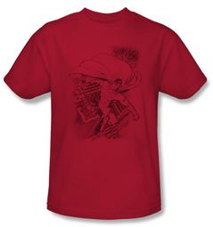 Superman Kids T-shirt DC Comics Metropolis In The City Red Tee Youth