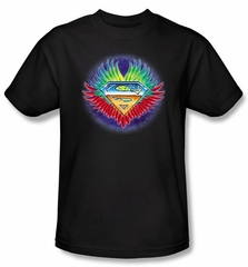 Superman Kids T-Shirt Don't Stop Believing Black Superhero Tee Youth